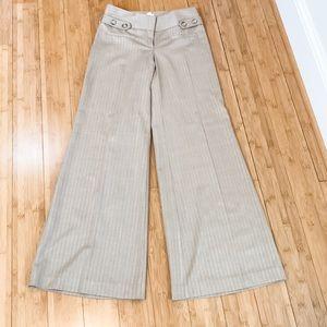 CACHE sz 0 gold and tan beautiful pants